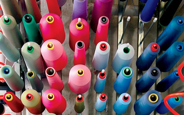 Colorful textiles for design